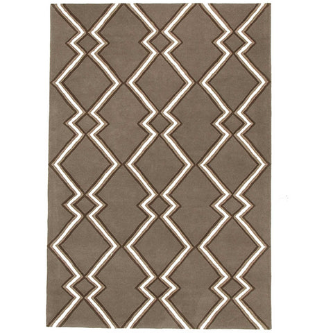 Wexford 722 Taupe Designer Wool Rug - Rugs Of Beauty - 1