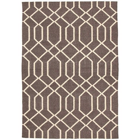 Wexford 724 Linen Designer Flatweave Wool Rug - Rugs Of Beauty - 1