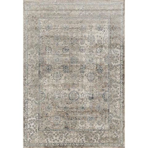 Cebu 754 Cream Faded Traditional Patterned Rug - Rugs Of Beauty - 1