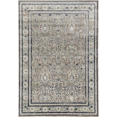 Cebu 756 Beige Decorative Border Faded Traditional Patterned Rug - Rugs Of Beauty - 1