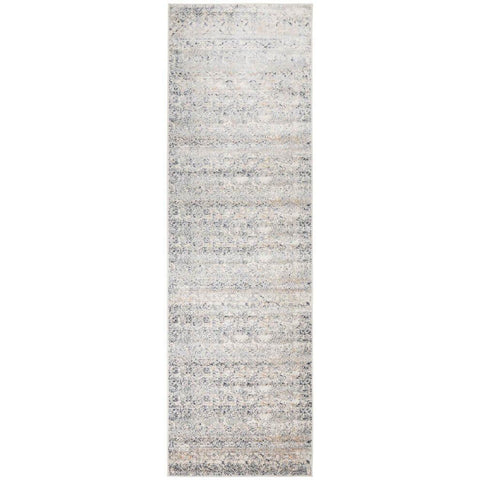 Cebu 757 Blue Faded Traditional Patterned Runner Rug - Rugs Of Beauty - 1