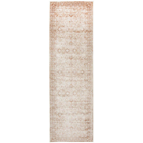 Cebu 760 Cream Border Faded Traditional Patterned Runner Rug - Rugs Of Beauty - 1