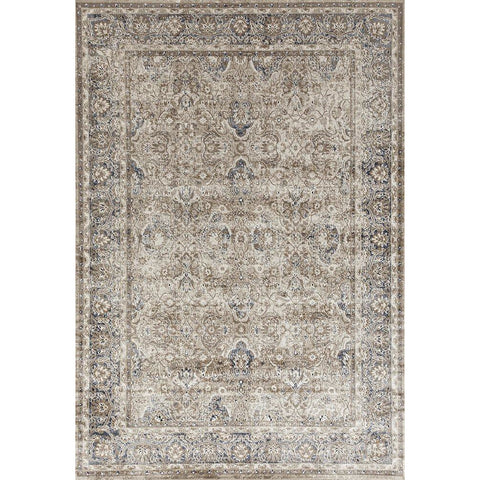 Cebu 760 Cream Border Faded Traditional Patterned Rug - Rugs Of Beauty - 1