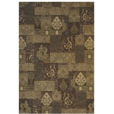 Prarie Taupe and Multi Coloured Transitional Patterned Rug - Rugs Of Beauty