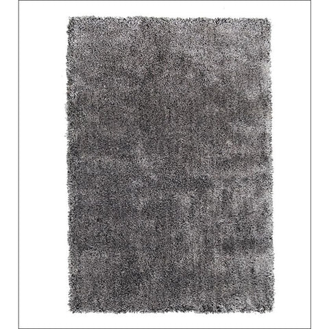 Palos Seal Brown Grey Modern Plush Microfibre Polyester Shaggy Rug - Rugs Of Beauty