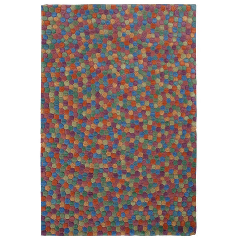 Olam Geometric Multi Coloured Pixel Patterned Wool Rug - Rugs Of Beauty