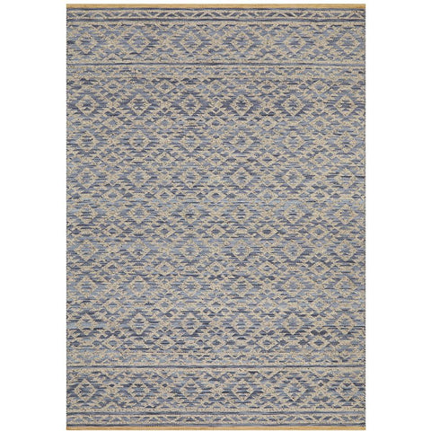 Alfheim 437 Blue Transitional Floor Rug - Rugs Of Beauty - 1