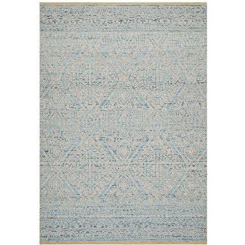 Alfheim 440 Sky Blue Transitional Floor Rug - Rugs Of Beauty - 1