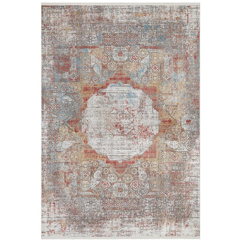 Tokat 2353 Terracotta Multi Colour Wash Transitional Rug - Rugs Of Beauty - 1