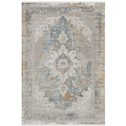 Tokat 2354 Blue Multi Colour Wash Transitional Rug - Rugs Of Beauty - 1