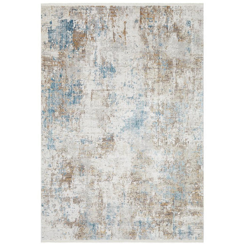 Tokat 2358 Blue Multi Colour Wash Transitional Rug - Rugs Of Beauty - 1