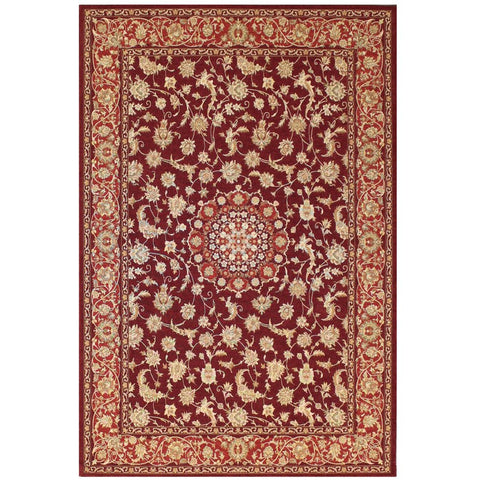 Qetesh Red Traditional Persian Floral Patterned Rug - Rugs Of Beauty