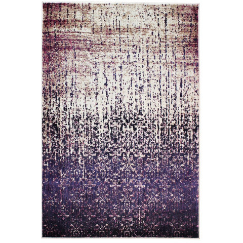 Halifax Purple and Multi Coloured Transitional Patterned Rug - Rugs Of Beauty