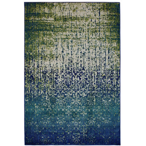 Halifax Blue and Multi Coloured Transitional Patterned Rug - Rugs Of Beauty