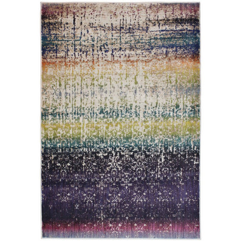 Halifax Multi Coloured Transitional Patterned Rug - Rugs Of Beauty