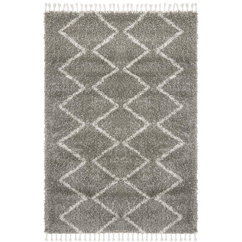 Zaria 151 Grey Moroccan Inspired Modern Shaggy Rug - Rugs Of Beauty - 1