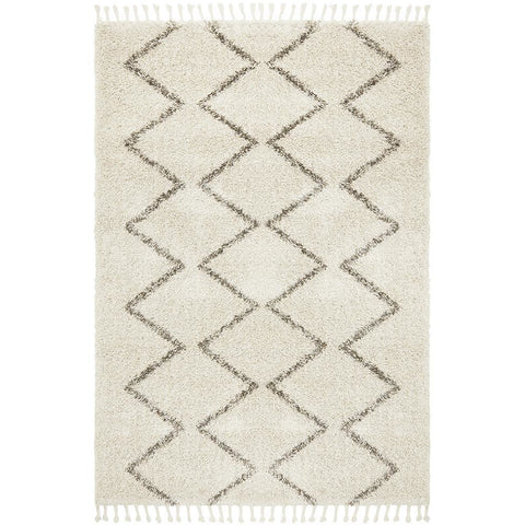 Zaria 151 Natural Moroccan Inspired Modern Shaggy Rug - Rugs Of Beauty - 1