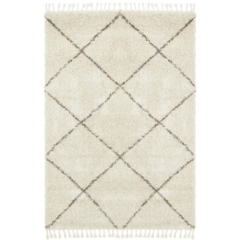 Zaria 152 Natural Moroccan Inspired Modern Shaggy Rug - Rugs Of Beauty - 1