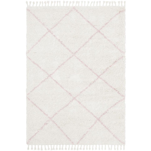 Zaria 152 Pink Moroccan Inspired Modern Shaggy Rug - Rugs Of Beauty - 1