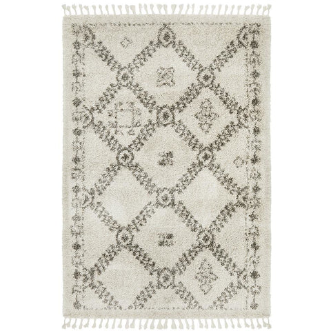 Zaria 153 Natural Moroccan Inspired Modern Shaggy Rug - Rugs Of Beauty - 1