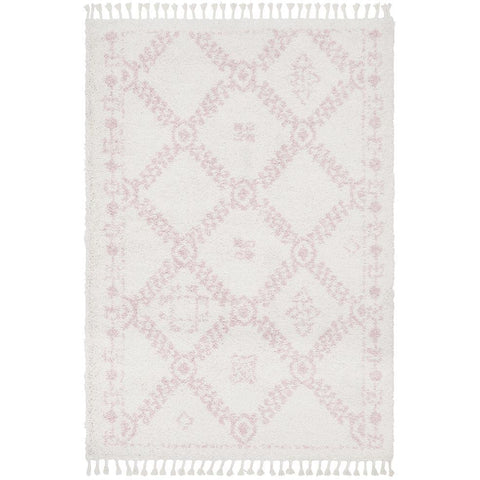 Zaria 153 Pink Moroccan Inspired Modern Shaggy Rug - Rugs Of Beauty - 1