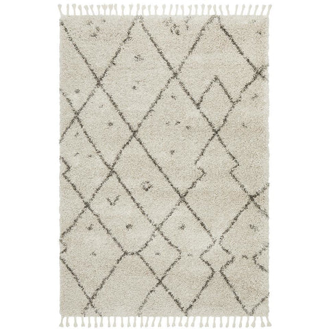 Zaria 154 Natural Moroccan Inspired Modern Shaggy Rug - Rugs Of Beauty - 1
