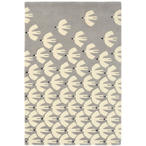 Scion Pajaro Steel 23904 Modern Designer Wool Rug - Rugs Of Beauty - 1