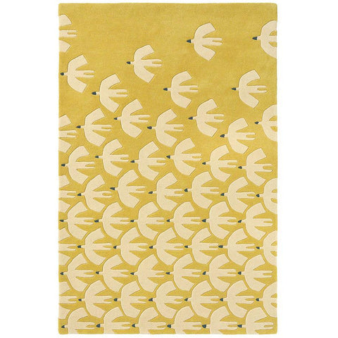 Scion Pajaro Ochre 23906 Modern Designer Wool Rug - Rugs Of Beauty - 1