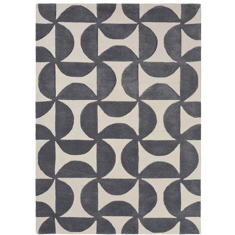 Scion Forma Liquorice 26205 Modern Designer Wool Rug - Rugs Of Beauty - 1