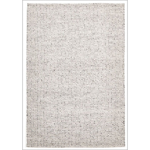 Carlos Felted Wool Flatweave Rug Grey Natural - Rugs Of Beauty - 1