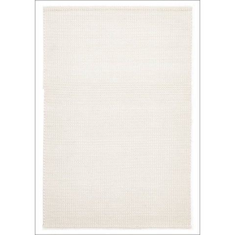 Carlos Felted Wool Flatweave Rug White Natural - Rugs Of Beauty - 1