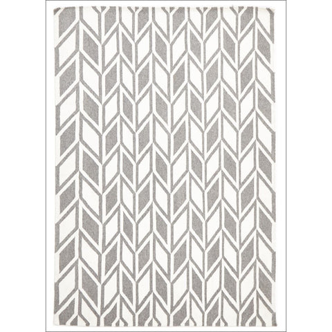 Aria Grey Modern Flatweave Wool Rug - Rugs Of Beauty - 1