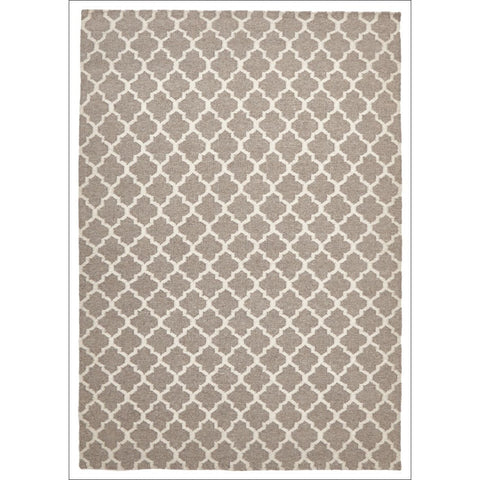 Bazaar Natural Trellis Wool Flatweave Kilim Rug - Rugs Of Beauty - 1