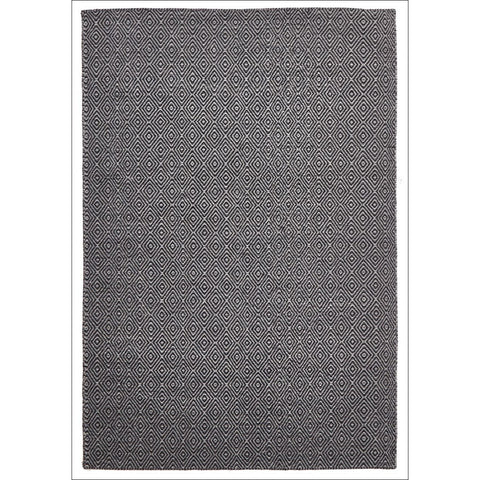 Shiva Stunning Black Diamond Flatweave Kilim Wool Rug - Rugs Of Beauty