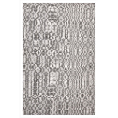 Shiva Stunning Dark Grey Diamond Flatweave Kilim Wool Rug - Rugs Of Beauty - 1
