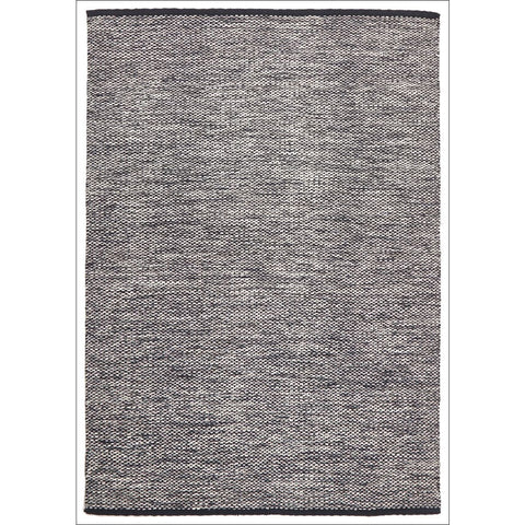 Livvy Charcoal Black Flat Weave Rug - Rugs Of Beauty