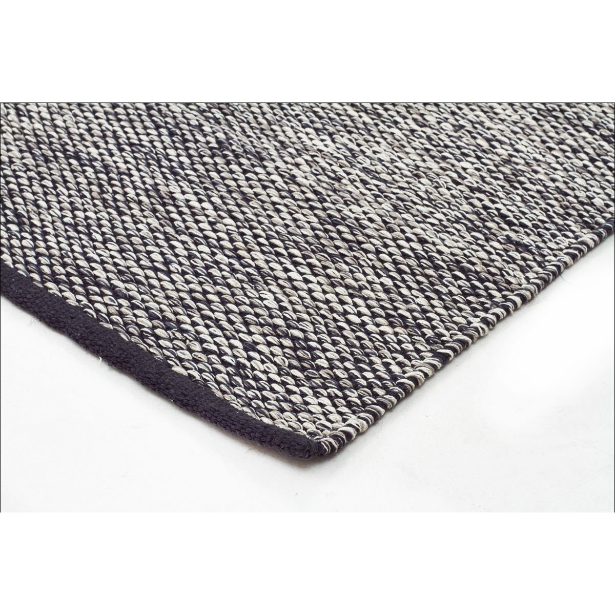 Livvy charcoal black flat weave rug rugs of beauty
