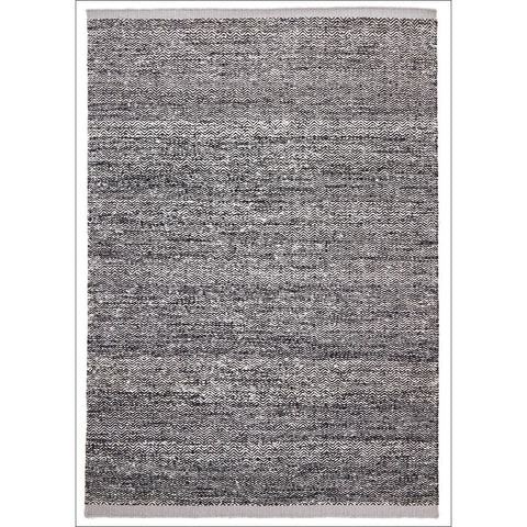 Zigga Flat Weave Wool Rug Black - Rugs Of Beauty