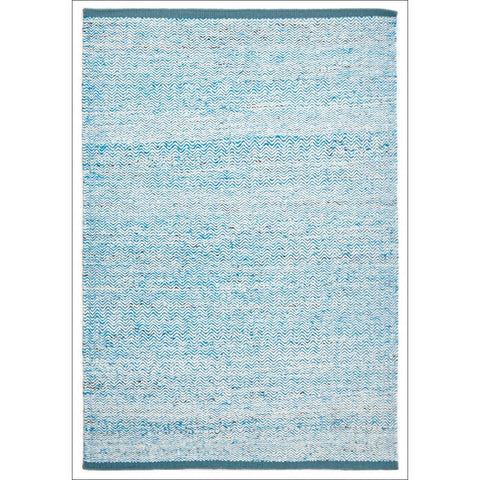 Zigga Flat Weave Wool Rug Blue - Rugs Of Beauty