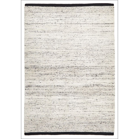 Zigga Flat Weave Wool Rug White - Rugs Of Beauty