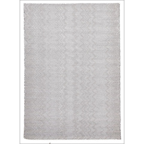 Herringbone Chevron Grey Flatweave Kilim Wool Rug - Rugs Of Beauty - 1