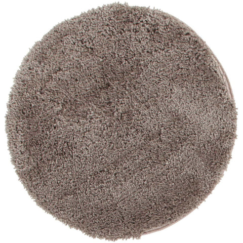 Arnhem Contemporary Beige Microfiber Soft Shaggy Round Rug - Rugs Of Beauty