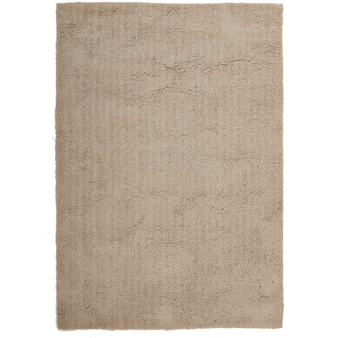 Arnhem Contemporary Cream Microfiber Soft Shaggy Rug - Rugs Of Beauty