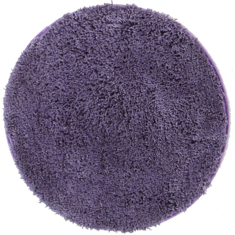 Arnhem Contemporary Purple Microfiber Soft Shaggy Round Rug - Rugs Of Beauty
