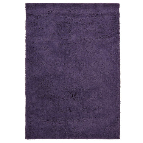 Arnhem Contemporary Purple Microfiber Soft Shaggy Rug - Rugs Of Beauty