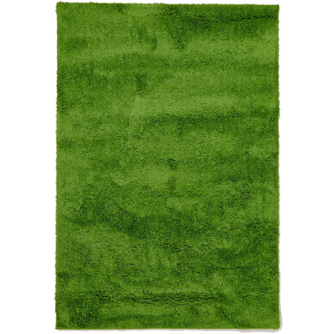 Arnhem Contemporary Lime Green Microfiber Soft Shaggy Rug - Rugs Of Beauty