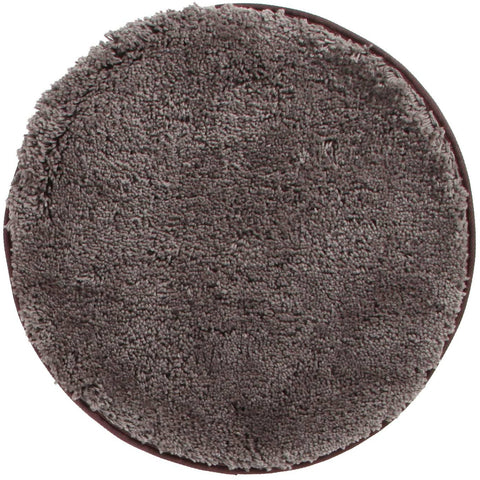 Arnhem Contemporary Mink Microfiber Soft Shaggy Round Rug - Rugs Of Beauty