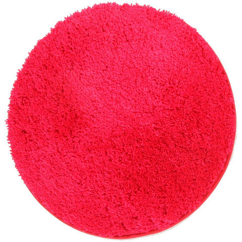 Arnhem Contemporary Pink Microfiber Soft Shaggy Round Rug - Rugs Of Beauty