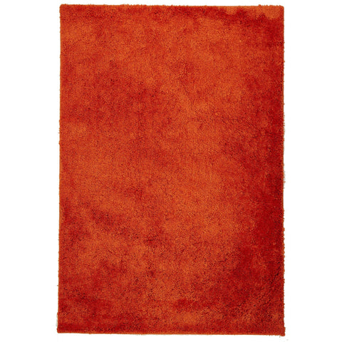 Arnhem Contemporary Rust Microfiber Soft Shaggy Rug - Rugs Of Beauty