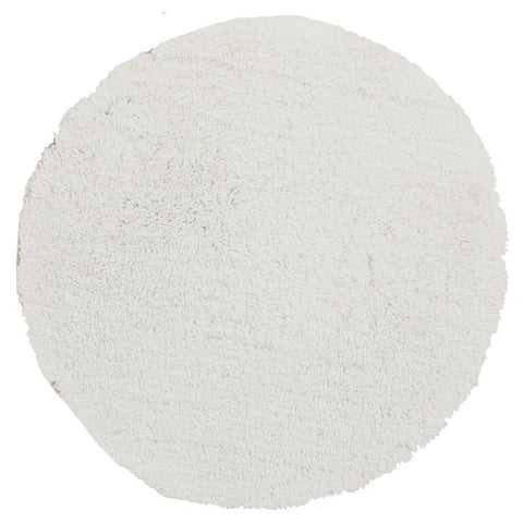 Arnhem Contemporary White Microfiber Soft Shaggy Round Rug - Rugs Of Beauty